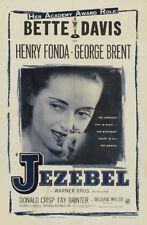 Jezebel Bette Davis Henry Fonda movie poster print #3