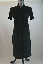 Lacoste Black Cotton Pique Polo Dress $300 Size 2 EF2026 BNWT 100% Authentic