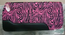 "Showman 32""x32"" PINK & BLACK ZEBRA PRINT Western Saddle Pad! NEW HORSE TACK!"