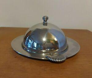 Beurrier en métal argenté