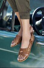 VINCE CAMUTO VC-Signature Brown Leather Vi~Sharlena  Vero~Cuoio Sandals 8M  $116