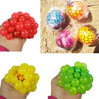 Mesh Squishy Ball Super Big 5.5cm Rubber Vent Grape Stress Ball Squeezing Toys