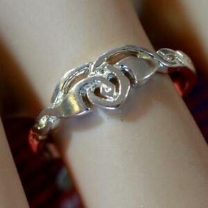 SILVER second hand fancy style ring