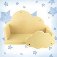 Wooden MDF Quality Flat packed 3D Cloud Shelf Bedroom Nursery Decoration SH1