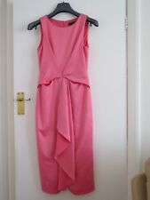 Coral Satin Effect Occasion/Party Dress LUXE by Dorothy Perkins Size 10