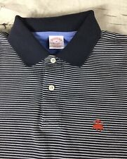 Brooks Brothers Striped SS Navy w Red Sheep Logo Polo Sz M - EUC