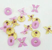 Valentine Eyelets Pink Xs Os Set of 20 Kisses Hugs Scrapbooking Paper Art Crafts