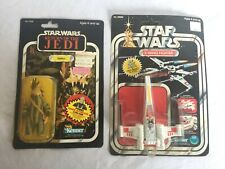 2-Vintage Kenner Star Wars Action Figures Teebo & X-Wing Fighter