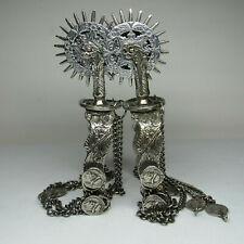 """Spanish Colonial Mexican Conquistador Style Wedding Parade Spurs 3"""" Rowels"""