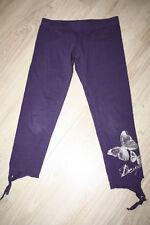 Desigual -  leggings violet et motif argenté - 6 ans - TBE - printemps été