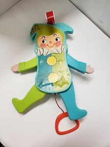 VINTAGE 1969 FISHER PRICE JOLLY JUMPING JACK PULL STRING TOY  WORKS  145