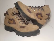 VINTAGE 1995 NIKE AIR KARST ACG HIKING BOOTS - SIZE 8 BROWN LEATHER LACE UP