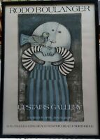 1974 Signed Graciela Rodo Boulanger Upstairs Gallery Exhibition Poster