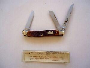 SCHRADE USA 825RB SLIM PREMIUM FOLDING STOCKMAN  KNIFE