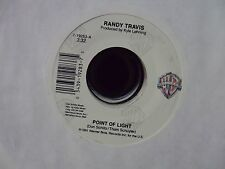 """RANDY TRAVIS Point Of Light/Waiting On The Light To Change 7"""" 45 country"""