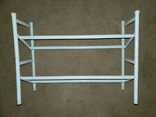 "White Metal Expandable Shoe Rack (expands from 24"" - 45"" wide)"