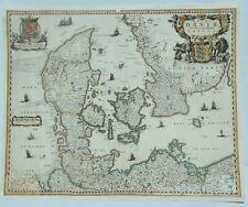 "Original Map of Denmark ""REGNI DANIAE NOVISSIMA ET TABULA"" by Visscher in 1680"