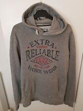 Jack and Jones hoodie in grey size medium distressed print on front