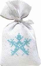14ct Cross Stitch Kit - Luca-S - Christmas Snowflake Bag kit -11 x 7 cm