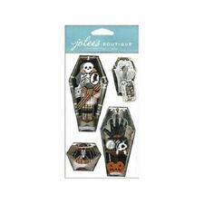 Jolee's Boutique Stickers - Vintage Coffins #662