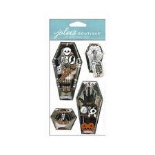 Jolee's Boutique Stickers - Vintage Coffins #662