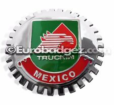 1- NEW Chrome Front Grill Badge Mexican Flag Spanish MEXICO MEDALLION TRUCKIN