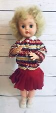 "Vintage 19"" Horseman Doll Sleepy Eyes T-21 With Clothes And Shoes"