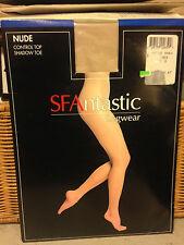 Vintage SFAntastic nude linen pantyhose w/ model sz B