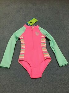 girls swimsuit girls  surf suit swimmers togs UPF 50+ New  size 3