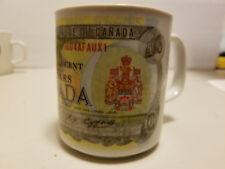 VINTAGE Coffee Mug - Canada 100 Dollar Bill -