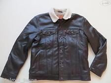 Levi's® Jacke Lederjacke Gr. XL NEU ! Echt-Leder Jeansjacke mit Fell gefüttert !