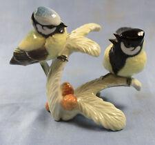Meise Meisen paar Vogel porzellanfigur porzellan figur Hutschenreuther vögel