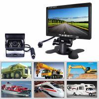 "Car Parking Reversing Camera + 7"" LCD Rear View Monitor Kit Truck Bus Van+ Cable"