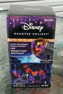 Disney Haunted Holiday Mickey Mouse Friends Whirl-A-Motion LED Projection Light