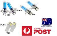 CRYSTAL WHITE Headlight Bulbs Globes FALCON AU BA BF FG XR6 XR8  LED Parkers