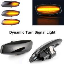 Amber Dynamic LED Side Marker Light Smoked For Citroen C5 C4 C3 Peugeot 207 308