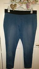 Size 22 stretch leggings jeggings jeans in blue denim