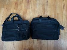 "Lot Of 2 TUMI Black 17"" Alpha Ballistic Nylon Laptop Briefcase Shoulder Bag"