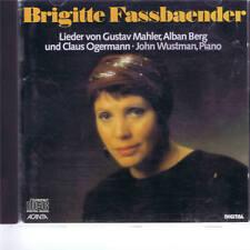CD ACANTA DELETED CD BRIGITTE FASSBAENDER - MAHLER, OGERMANN & BERG LIEDER