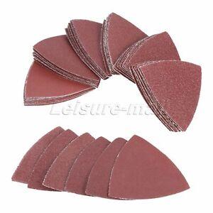 80mm 40-240 Grit Triangle Sandpaper Multitool Sanding Pads Abrasive Polishing