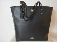 Coach Black Women's Pebble Leather Tote Handbag