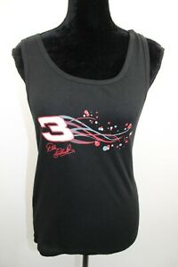 NWT Dale Earnhardt Women's Tank Top #3 Black Sleeveless Nascar Size Medium M