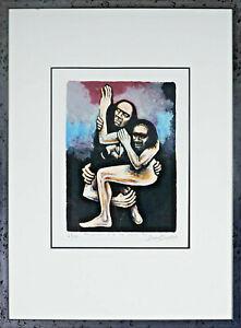 "DAVID BOYD (1924 - 2011) ""Truganini and the Sealer 1959"" screenprint Limited Ed"