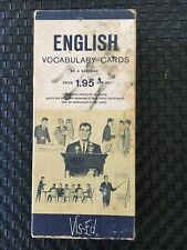 Vis-Ed English Vocabulary Cards  1950's (1000 flash cards)