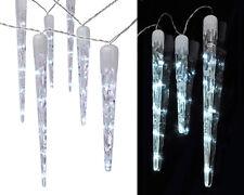 LED Lichterkette Eiszapfen 10 Zapfen 40 LEDs (76139) Weihnachtsdeko kalt-weiß
