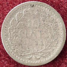 Netherlands 10 Cents 1911 (D2004)
