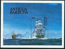 ANTIGUA & BARBUDA - 1984 MAN O' WAR SHIP Barbuda Mail Miniature Sheet MNH [6787]