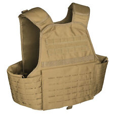 Mil-Tec Laser Cut MOLLE Pouch Military Combat Army Plate Carrier Vest Coyote Tan