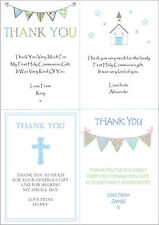 10 Personalised Boys First 1st Holy Communion Invitations / Thank You Cards