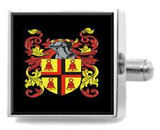Vans Scotland Heraldry Crest Sterling Silver Cufflinks Engraved Message Box